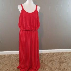 American Rag Dresses - American Rag Cie red pleated dress size 1x